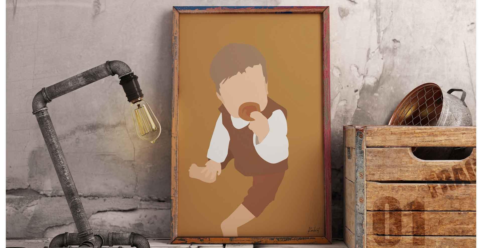 Baby portræt i ramme