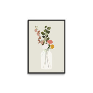 Plakat i ramme - blomster - evighedsbuket