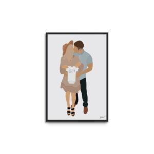 Plakat i ramme - par - gravid