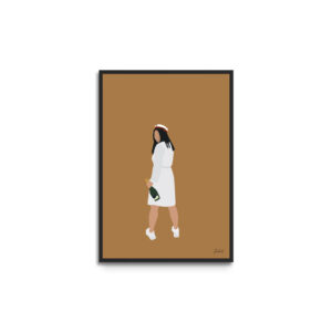 Plakat i ramme - studentportræt pige