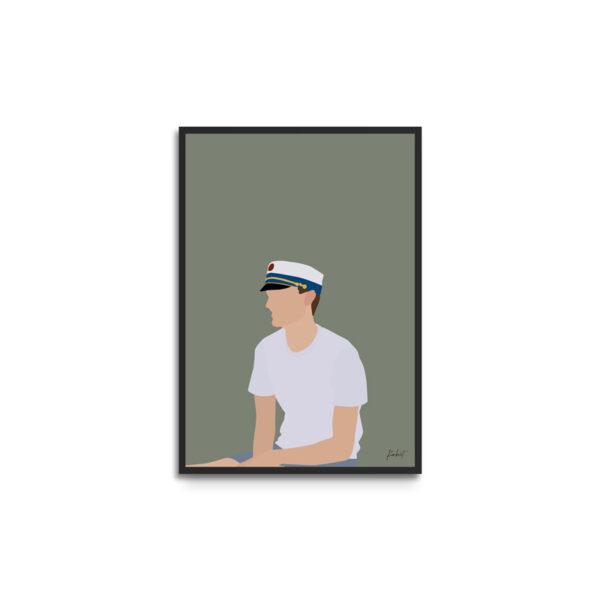 Plakat i ramme - studentportræt dreng