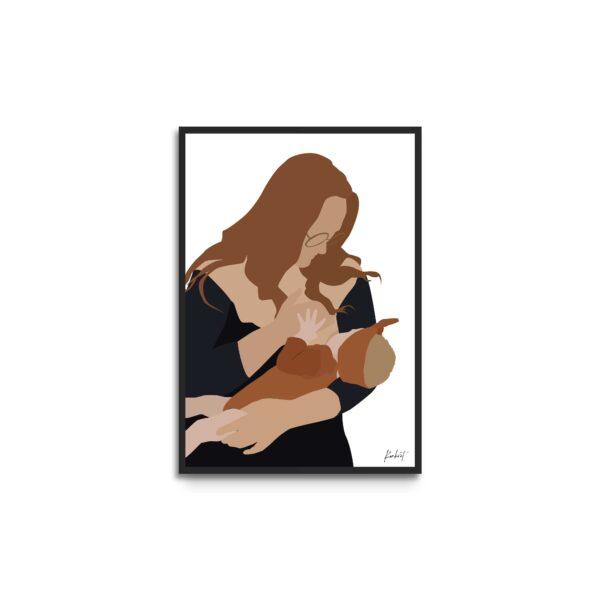 mor der ammer plakat - illustration - minimalistisk design